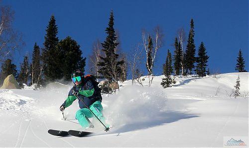 Začátek skialpové sezóny na Sibiři na přelomu listopadu a prosince 2017