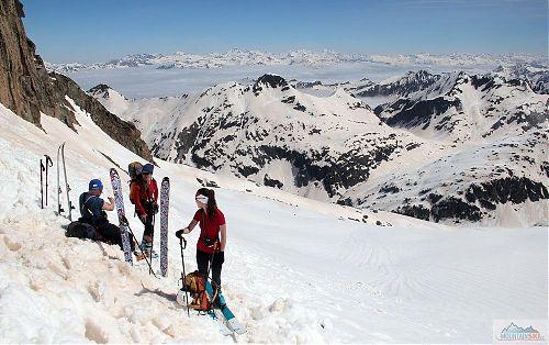 Přelom dubna a května při skialpování v Pyrenejích
