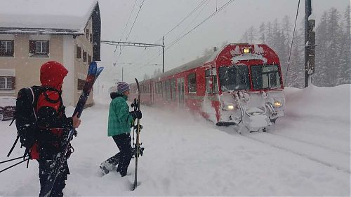 Do Švýcarska pojedeme vlakem, foto: SNOWfest 2018