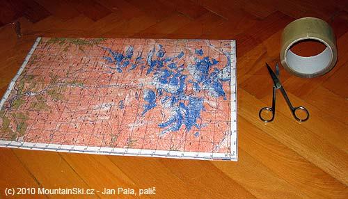 Pomůcky potřebné kvytvoření odolné mapy