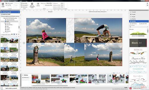 Návrh fotoknihy je v software SaalDesigner jednoduchý a intuitivní
