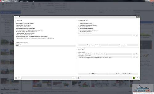 Možnosti nastavení software SaalDesigner