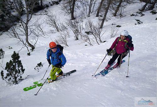 Relax během lesního lyžování