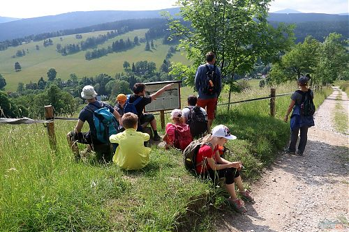 Sestup do Horních Albeřic