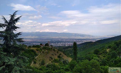 Červencový výhled na Skopje