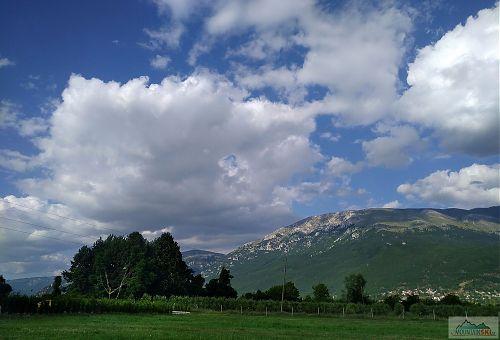 Hra mraků nad pohořím Galičica