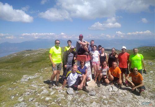 Skupinové foto na vrcholu Magaro v Galičici