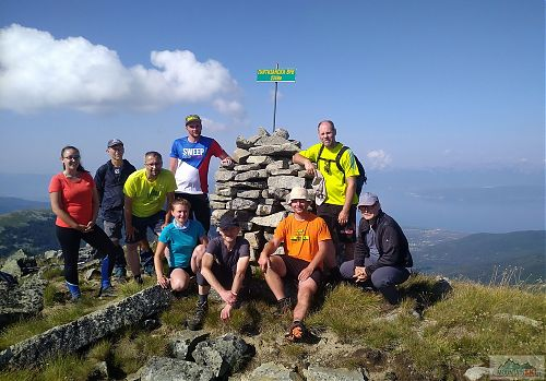 Na vrcholu Partizanski vrv (2349 m)