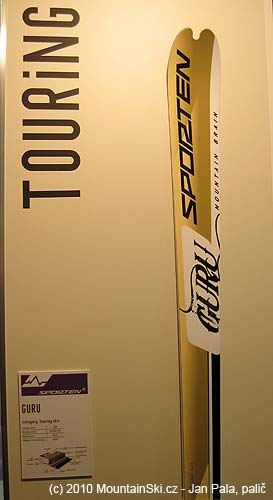 Ski-touring skis Sporten Guru, length 163 cm, weight 900 grams