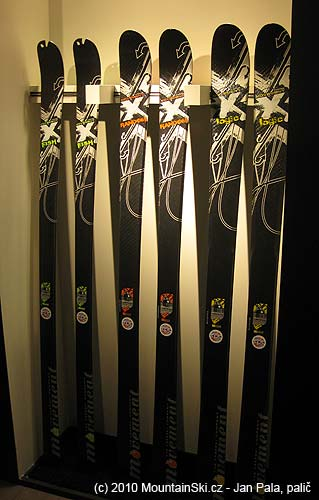 Extra light weight skis, top secret core, length 170 cm and weight 700 grams