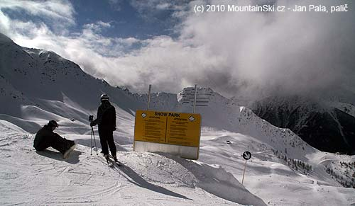 Horní část lyžařského střediska Mattrei