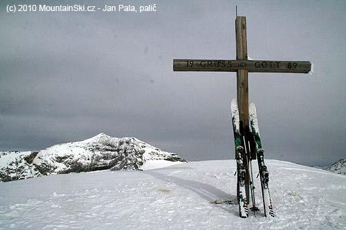 Vrcholový kříž na Gjaidtroghöhe– 2989m
